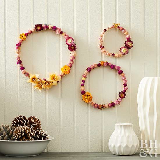 flower wreath, wreath, flowers