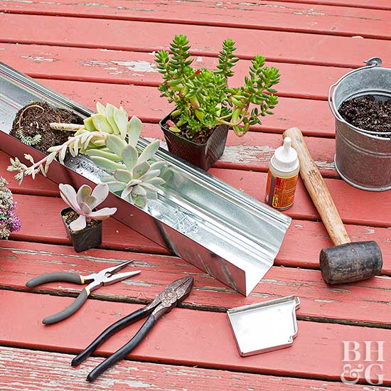 Metal Gutter Railing Planter materials