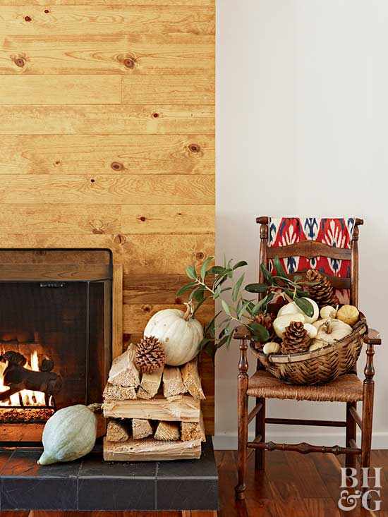 fireplace, holiday decor, chair