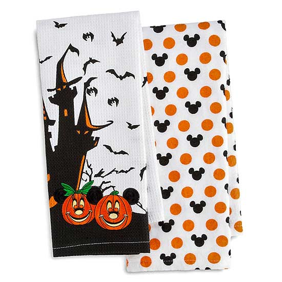 disney halloween tea towels