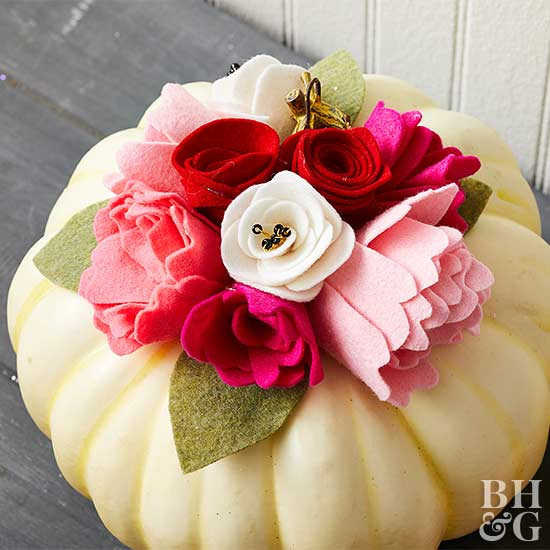 flower topper for pumpkin