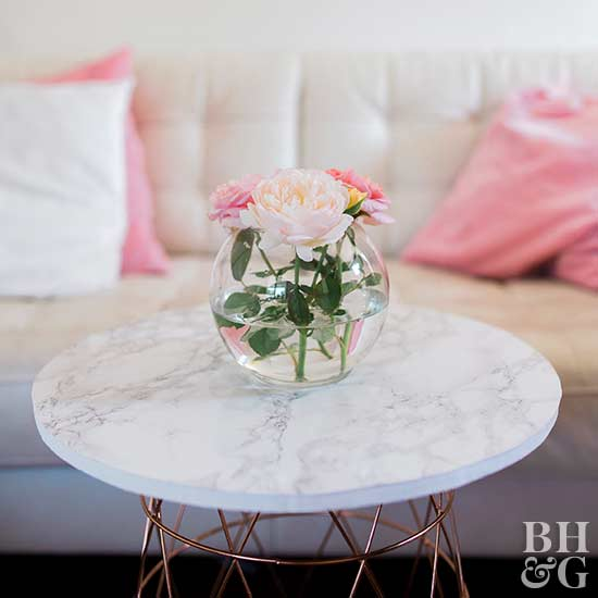 Basket Coffee Table, flowers, table, DIY