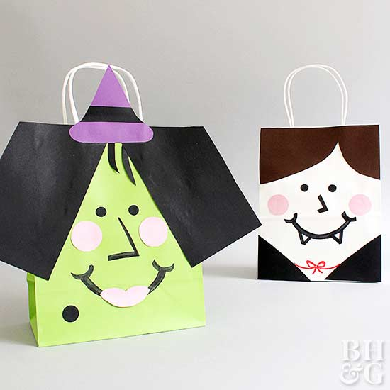 Vampire and Witch Bags, DIY, bags, Halloween