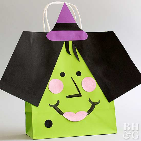 Vampire and Witch Bags, Halloween bag, DIY