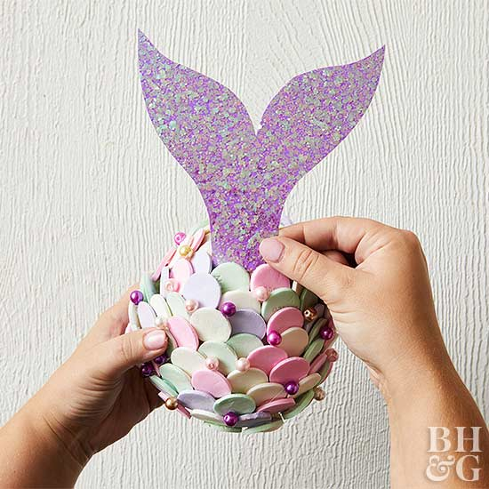 mermaid tail decoration