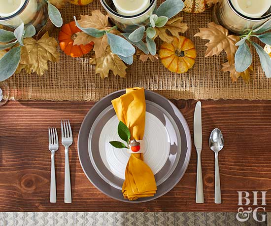 modern autumn tablesetting