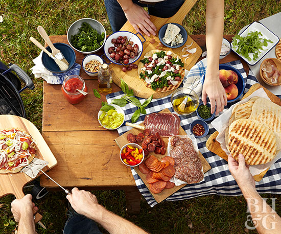 Picnic Table food spread