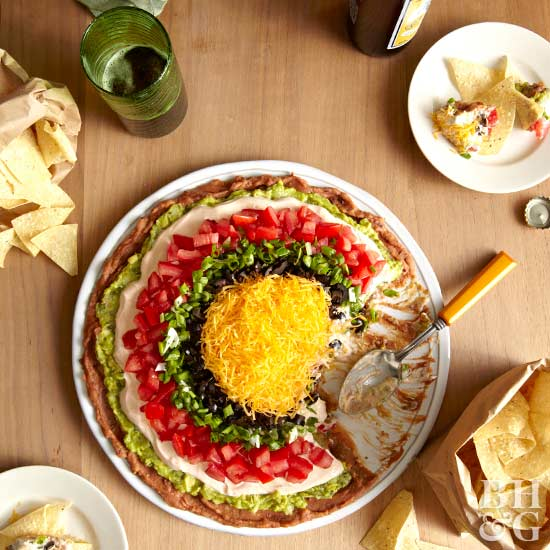 seven-layer dip and chips