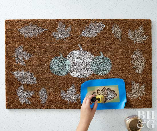 fall diy door mat