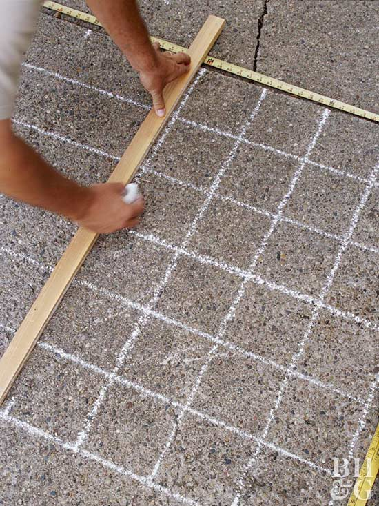 drawing grid lines with chalk