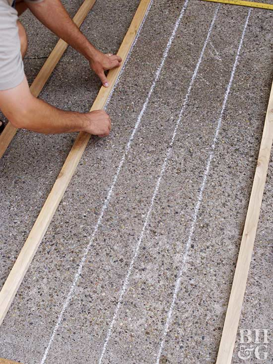 drawing chalk lines for trellis