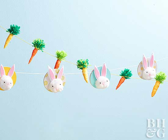 bunny and carrot Easter garlands
