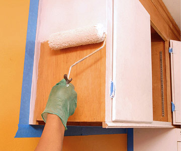 can you paint old kitchen cabinets