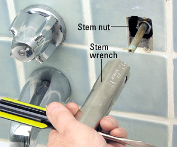 Tub and Shower Stem Compression Faucet Repair and Installation ...
