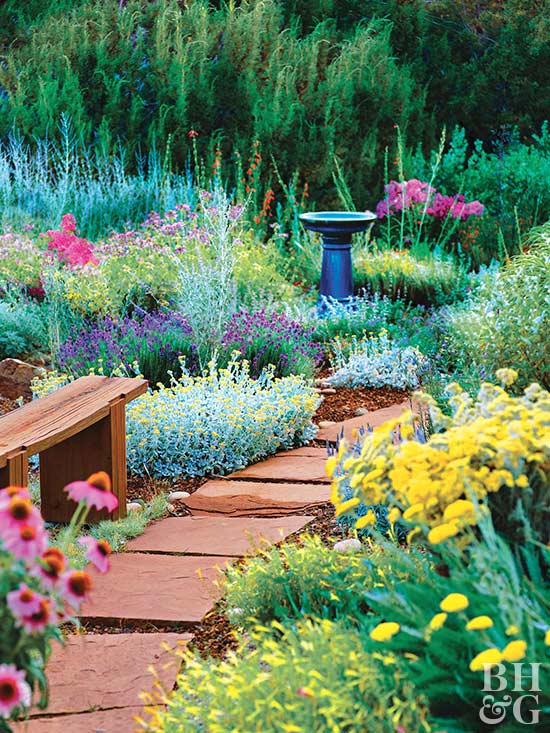 Tough as nails perennial garden plan better homes gardens for Easy perennial garden plan