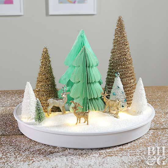 Paper Christmas Tree Centerpiece
