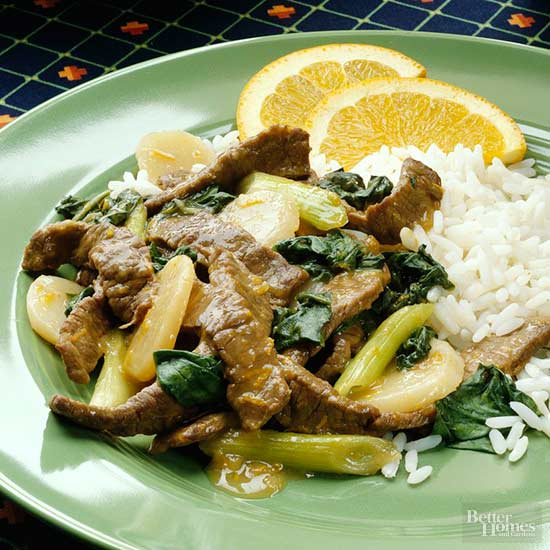 Beef Stir-Fry with Orange Sauce