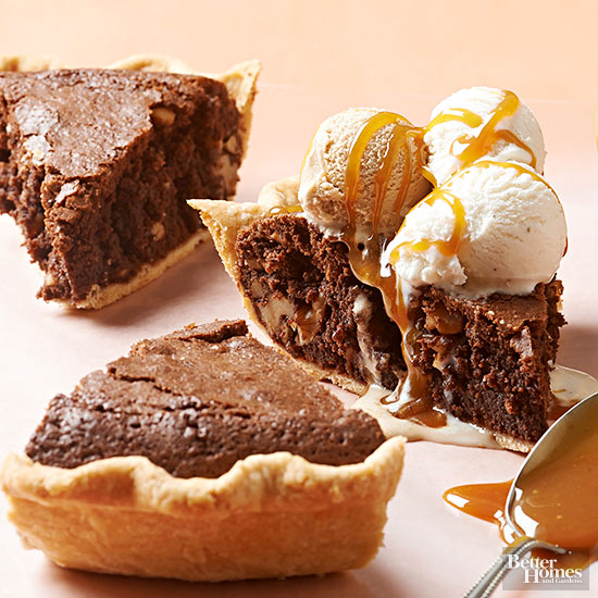 Brownie Walnut Pie,