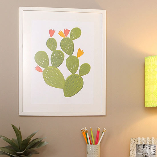 Stamped Cactus Artwork