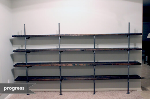 I Did it! Industrial Shelves