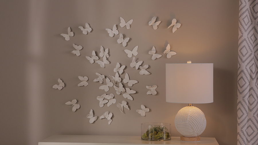 Clay Butterfly Wall Art