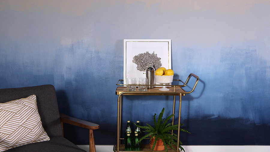 DIY Ombre Wall Treatment