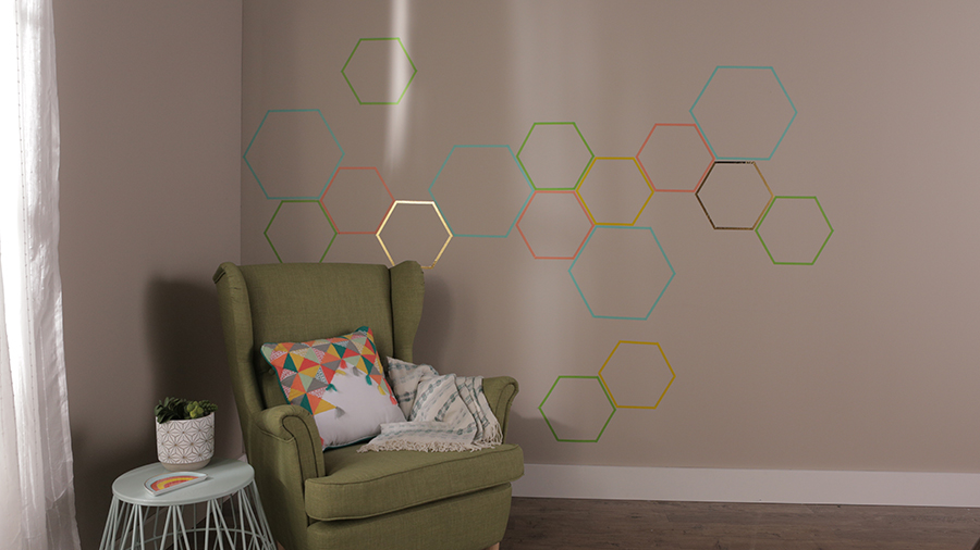 DIY Washi Tape Wall Treatment
