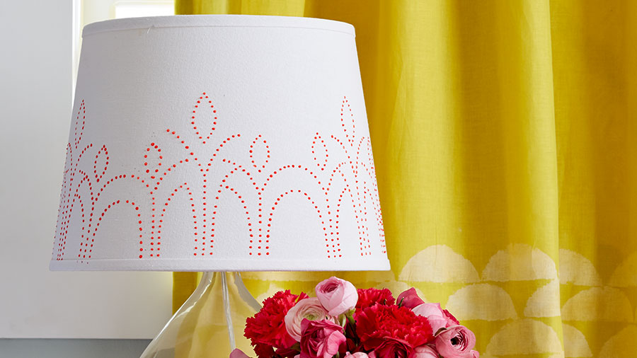 Easy Paint-Embellished Lamp Shade