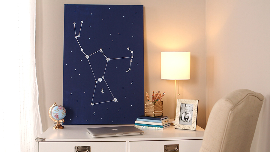 Glowing Galaxy Wall Art