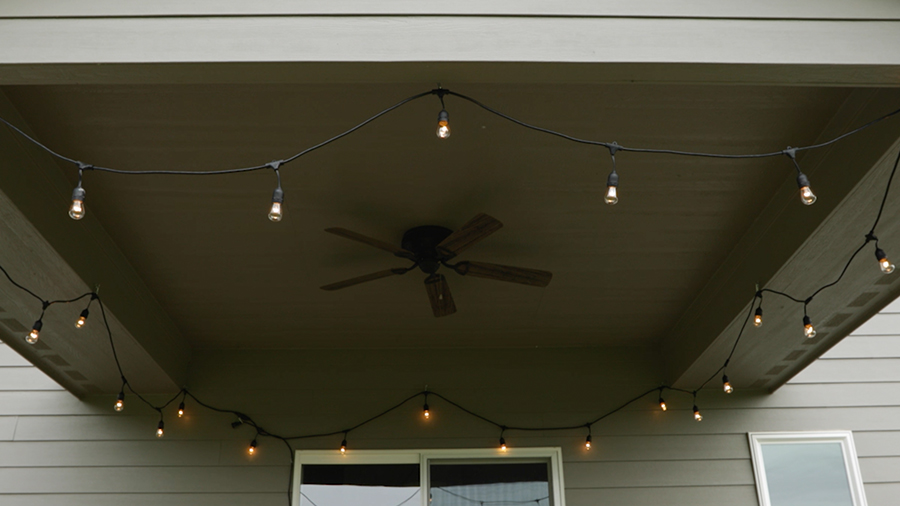 How to Hang Patio Twinkle Lights