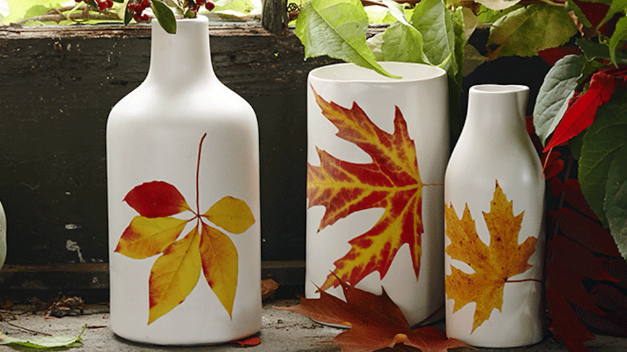 How to Make Leaf Vases with Two Supplies!