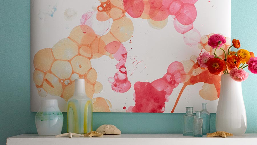 How to Make Watercolor Wall Art in Two Steps