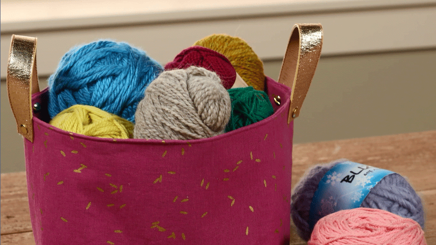 Make a Fabric Storage Bin