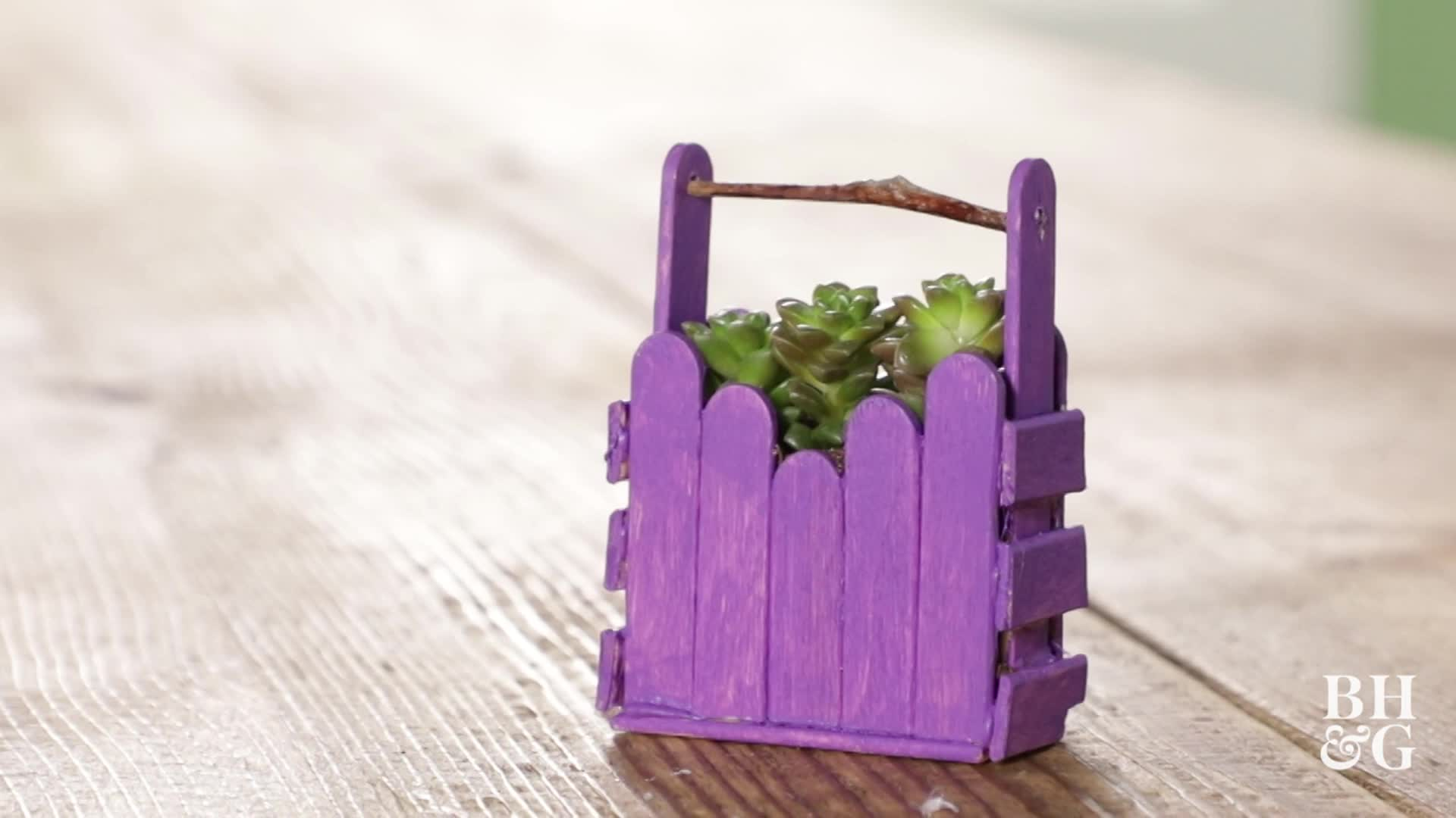 Mini Crafts Stick Planter