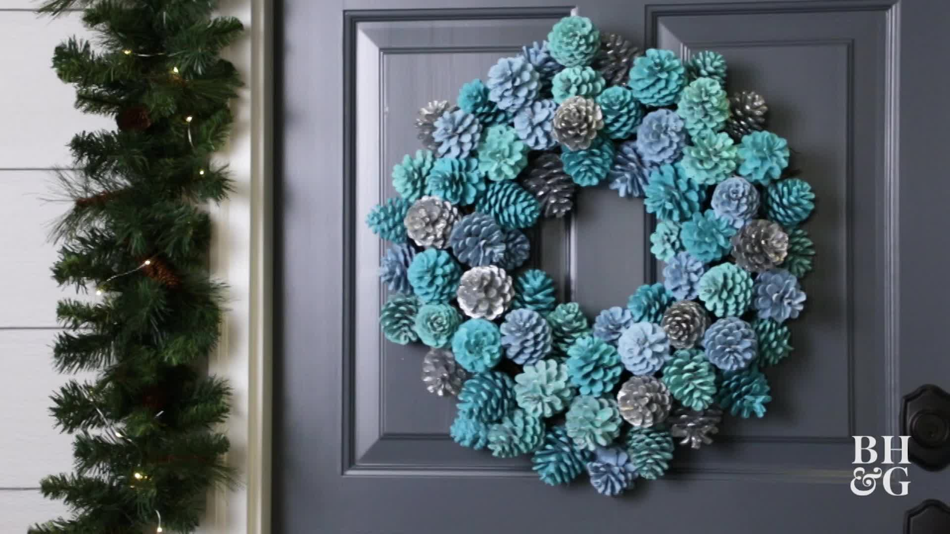 Ombre Pinecone Wreath