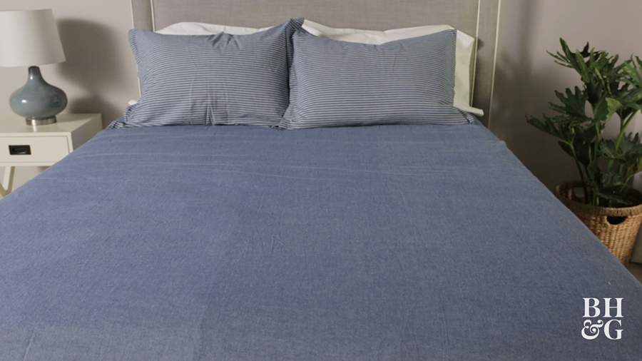 The Fastest Way to Slip on a Duvet Cover