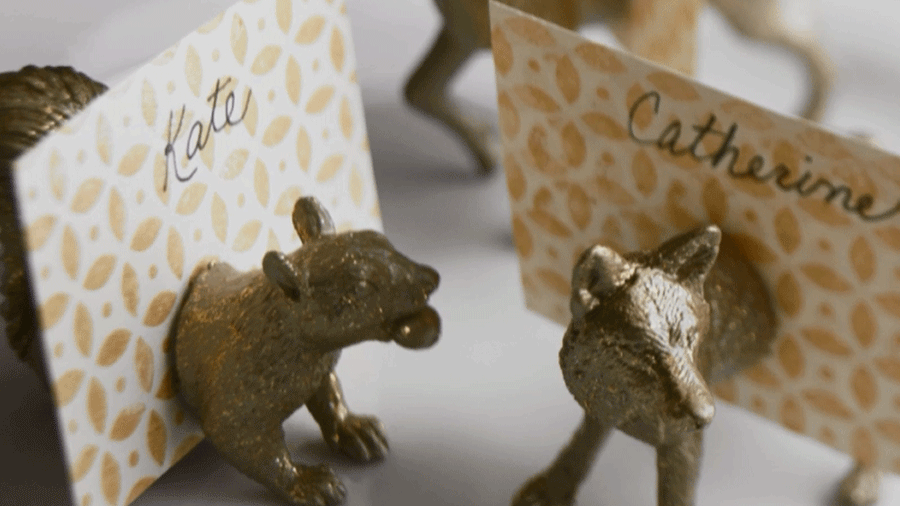 Woodland Creatures Place Card Holders