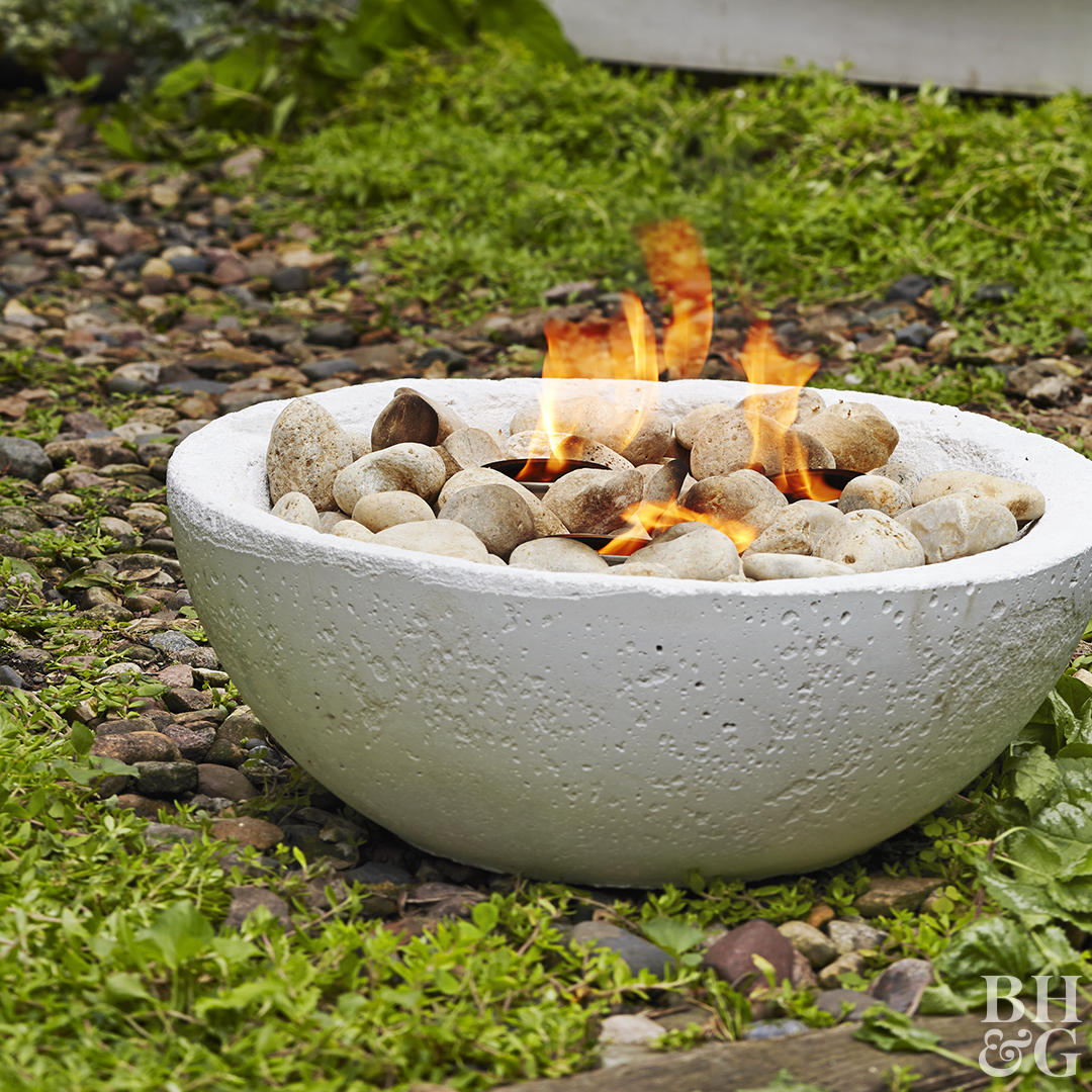 finished fire bowl